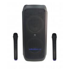 Караоке колонка на АКБ Goldstar 350 Вт с двумя микрофонами.