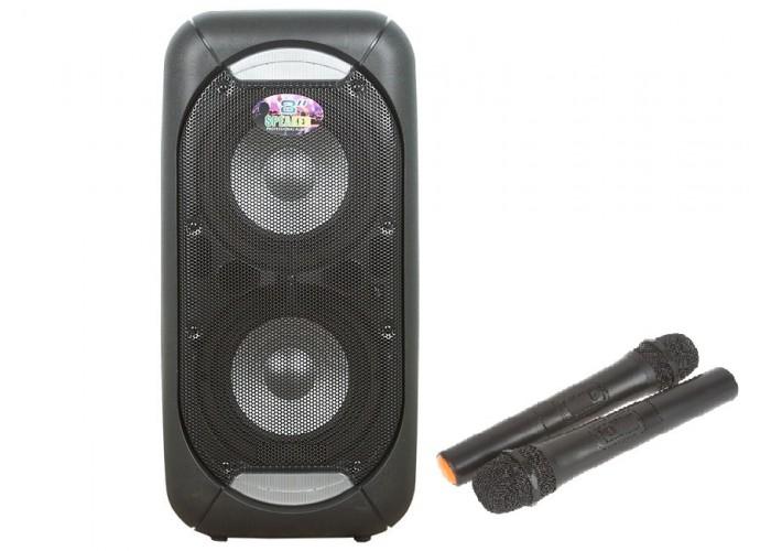 комбик аккумуляторный 200-250 Вт с двумя радиомикрофонами