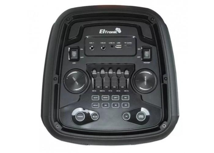 Караоке колонка ELTRONIC 20-12 с 2 радиомикрофонами 800 Вт