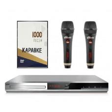Комплект Караоке BBK base два микрофона с оценкой исполнения + 1000 песен