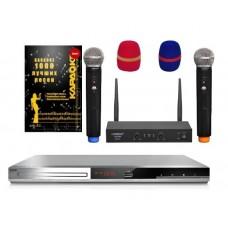 Комплект Караоке BBK DVP036S HOME с оценкой исполнения 2 радиомикрофона +1000 песен
