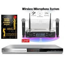 Комплект Караоке BBK HOME PRO с оценкой исполнения 2 радиомикрофона +1000 песен