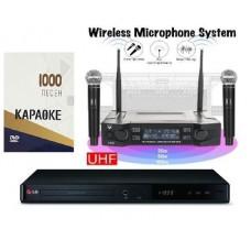 Караоке комплект LG DP547H HOME 1 с оценкой исполнения + 2 радиомикрофона + 1000 песен