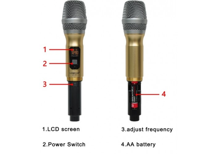 Радиомикрофон LOMEHO U01