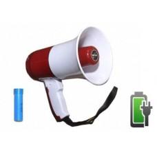 Мегафон рупорный на АКБ с записью голоса и USB