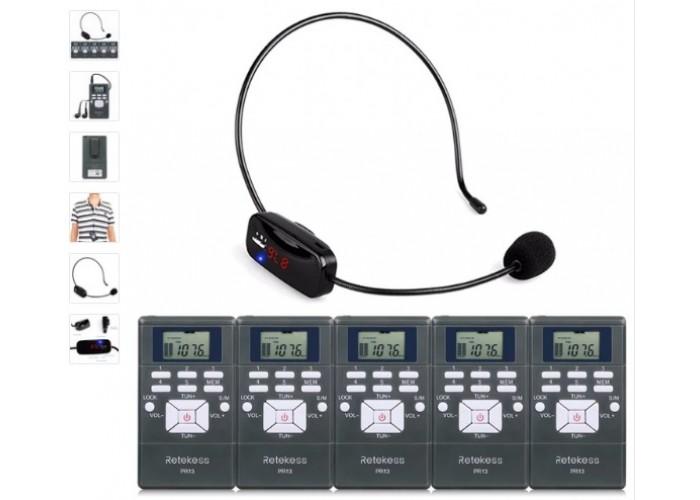 Радиогид гид RETEKESS 1 передатчик и 5 приёмников.