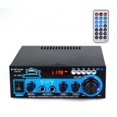 Усилитель с Bluetooth и двумя микрофонными входами . 2 х 400 Вт