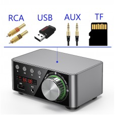 Стильный стерео усилитель с Bluetooth 5,0 ,50WX2