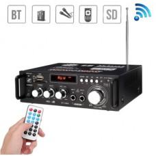 Усилитель с Bluetooth и двумя микрофонными входами . 2 х 300 Вт
