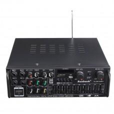 Стерео усилитель с МР3 , Bluetooth и микрофонными входами 2 по 300 Вт